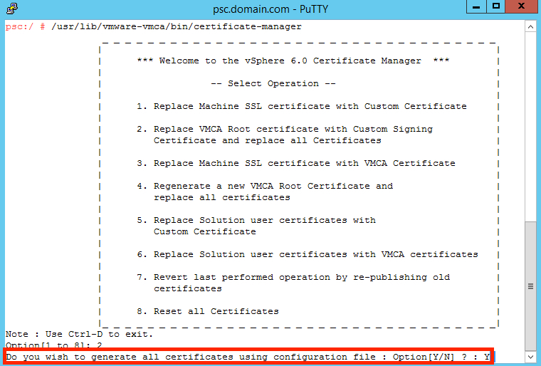 Replacing Vsphere 60 Certificates Using Vmca As A Subordinate Ca