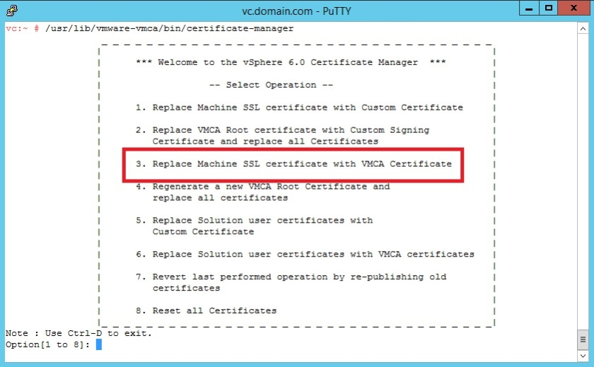 Replacing vsphere 60 certificates using vmca as a subordinate ca provide the administratorvspherelocal credentials yadclub Choice Image